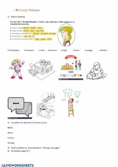 Interactive worksheet Strange Messages, the Real McCoy and other ghost stories