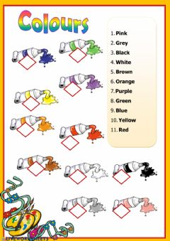 Ficha interactiva Colours-revision