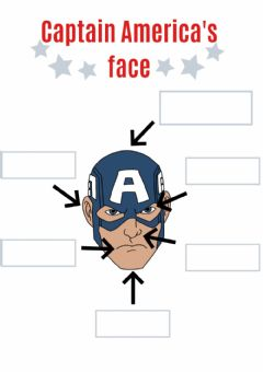 Interactive worksheet Parts of the face