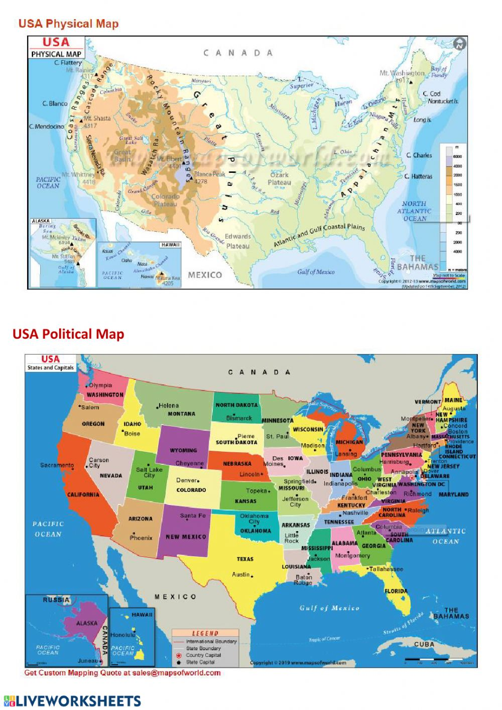 Picture of: Ejercicio De Physical And Political Maps