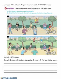 Interactive worksheet Present Continuous 7