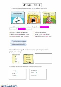 Interactive worksheet Los articulos