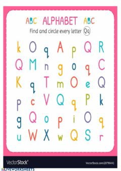 Interactive worksheet Letter Qq