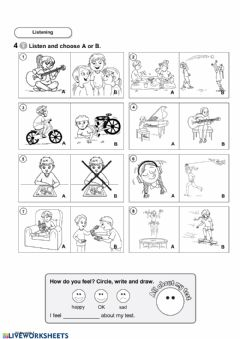 Interactive worksheet Listening (Unit 4)