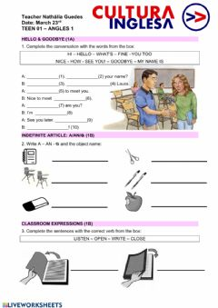 Interactive worksheet Teen 01 Review Unit 1