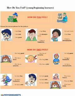 Interactive worksheet Health and illnesses