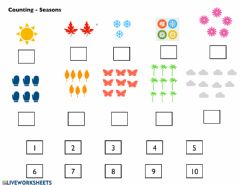 Interactive worksheet Counting - Seasons