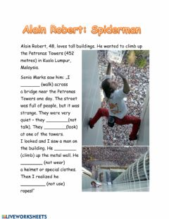Interactive worksheet Alain Roberts: Spiderman