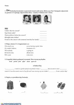 Interactive worksheet Unit 5 Test Evolution Plus 3