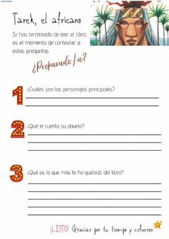 Interactive worksheet Tarek, el africano