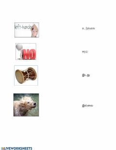 Interactive worksheet Match the picture to words