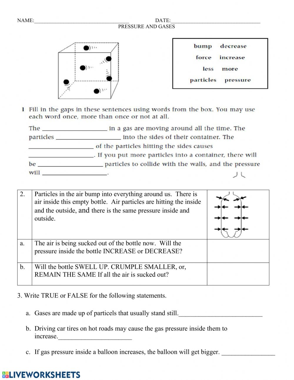 Gas pressure worksheet 2