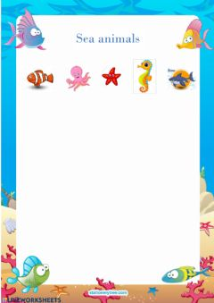 Ficha interactiva Sea Animals 2