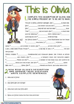 Interactive worksheet To be and have got