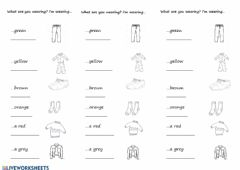 Ficha interactiva Clothes and colours