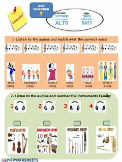 Ficha interactiva Voices and instruments