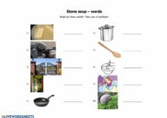 Interactive worksheet Stone soup - words