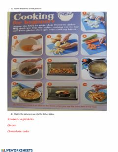 Interactive worksheet Cooking and eating vocabulary