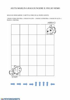 Interactive worksheet Percorso Nemo