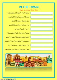 Interactive worksheet In the town