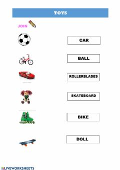 Interactive worksheet Toys