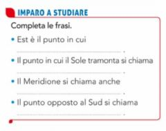 Interactive worksheet Punti cardinali