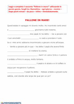 Interactive worksheet Pallone in mare