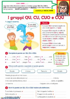 Interactive worksheet Suono CU e QU