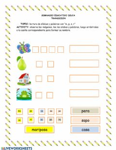 Interactive worksheet Fichas de lectura