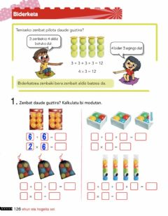 Interactive worksheet Biderketa 126