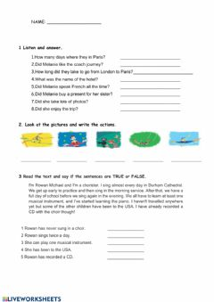Interactive worksheet Unit 5 english test we can do it