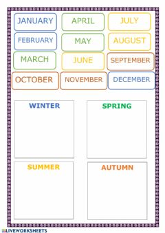 Ficha interactiva Months and seasons