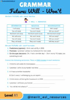 Interactive worksheet Future - WILL