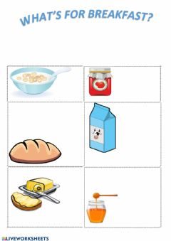 Interactive worksheet What's for breakfast?