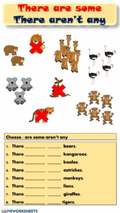 Interactive worksheet There are some-There aren't any