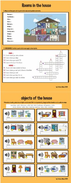 Interactive worksheet Rooms and objects of the house