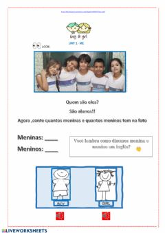 Interactive worksheet Boys and Girls