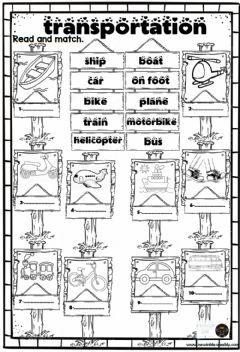Interactive worksheet Transportation drag and drop