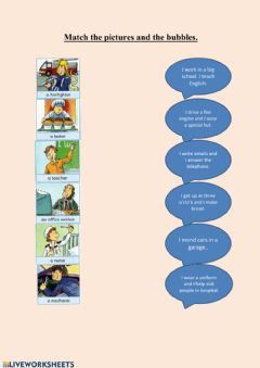 Interactive worksheet Jobs for young learners