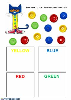 Interactive worksheet Sort by colour