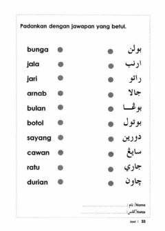 Interactive worksheet Jawi