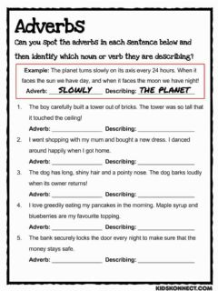 Interactive worksheet Adverbs to find!