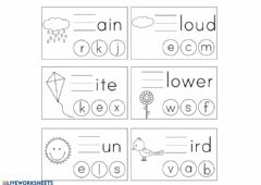Interactive worksheet Spring vocabulary7 beginning sounds