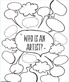 Interactive worksheet Who is an artist