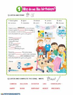 Ficha interactiva Birthday song - bright ideas 2