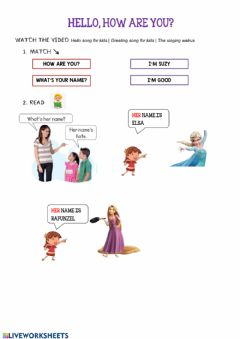 Interactive worksheet How are you