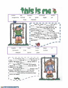 Interactive worksheet This is me!