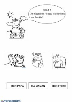 Interactive worksheet La famille de Peppa