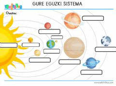 Interactive worksheet Eguzki sistema