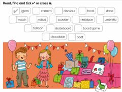 Interactive worksheet Birthday presents